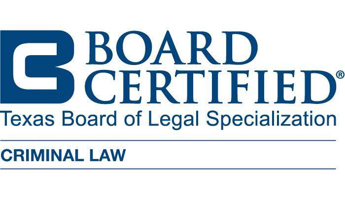 Board Certified - Texas Board of Legal Specialization, CRIMINAL LAW